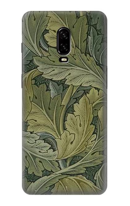 W3790 William Morris Acanthus Leaves Hülle Schutzhülle Taschen und Leder Flip für OnePlus 6T