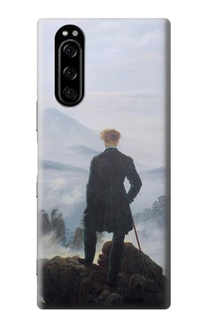 W3789 Wanderer above the Sea of Fog Hülle Schutzhülle Taschen und Leder Flip für Sony Xperia 5