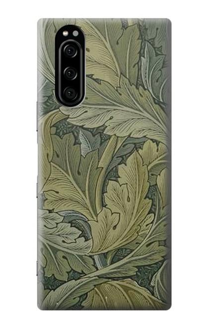 W3790 William Morris Acanthus Leaves Hülle Schutzhülle Taschen und Leder Flip für Sony Xperia 5