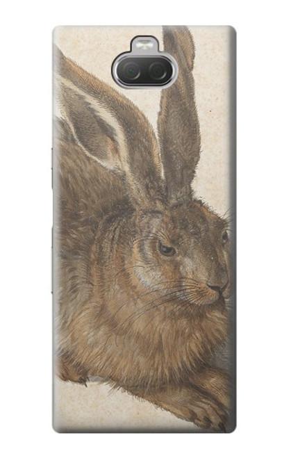 W3781 Albrecht Durer Young Hare Hülle Schutzhülle Taschen und Leder Flip für Sony Xperia 10