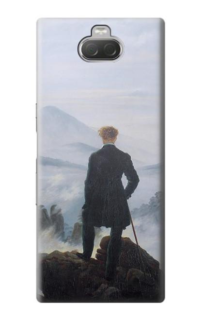 W3789 Wanderer above the Sea of Fog Hülle Schutzhülle Taschen und Leder Flip für Sony Xperia 10