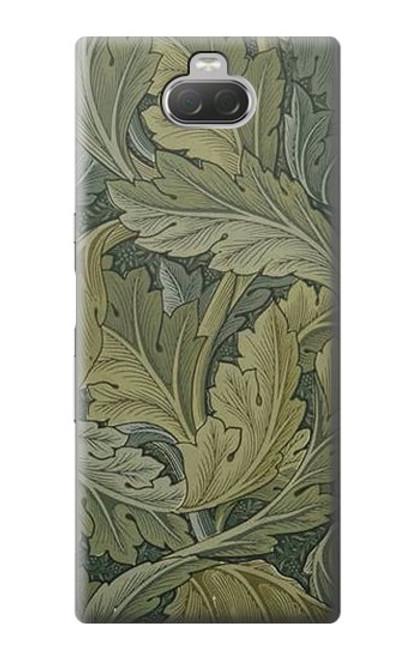 W3790 William Morris Acanthus Leaves Hülle Schutzhülle Taschen und Leder Flip für Sony Xperia 10