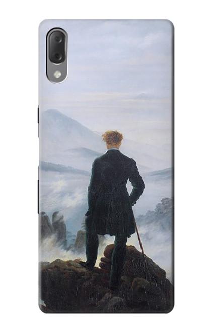 W3789 Wanderer above the Sea of Fog Hülle Schutzhülle Taschen und Leder Flip für Sony Xperia L3