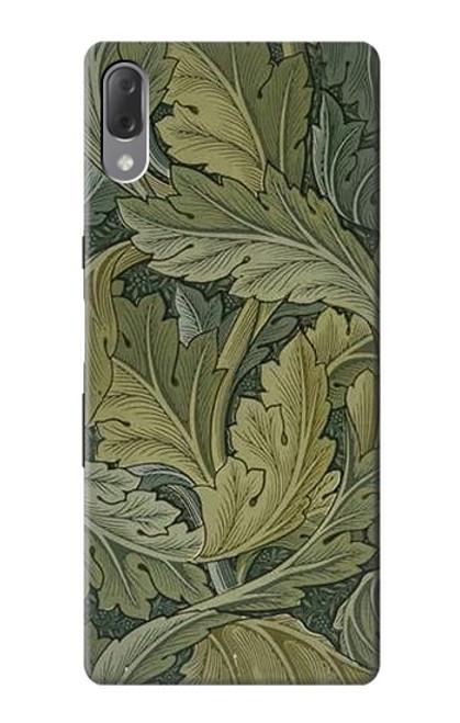 W3790 William Morris Acanthus Leaves Hülle Schutzhülle Taschen und Leder Flip für Sony Xperia L3