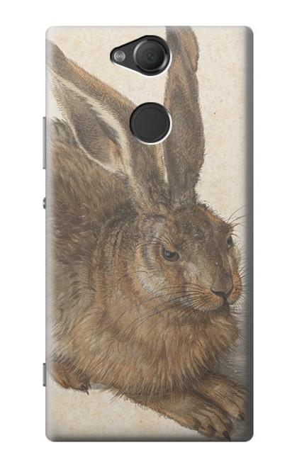W3781 Albrecht Durer Young Hare Hülle Schutzhülle Taschen und Leder Flip für Sony Xperia XA2