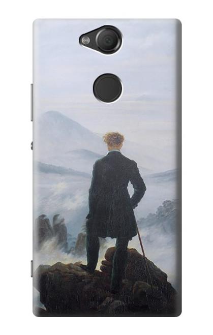 W3789 Wanderer above the Sea of Fog Hülle Schutzhülle Taschen und Leder Flip für Sony Xperia XA2