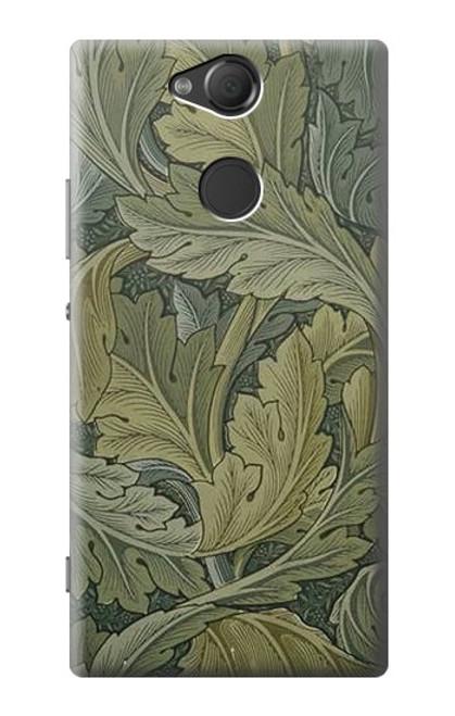 W3790 William Morris Acanthus Leaves Hülle Schutzhülle Taschen und Leder Flip für Sony Xperia XA2