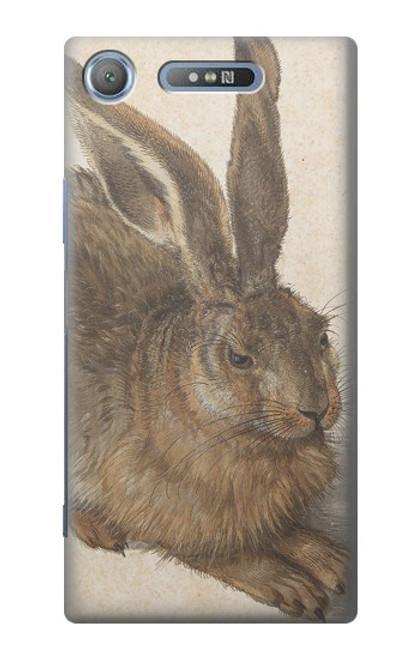 W3781 Albrecht Durer Young Hare Hülle Schutzhülle Taschen und Leder Flip für Sony Xperia XZ1