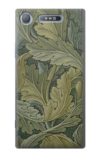 W3790 William Morris Acanthus Leaves Hülle Schutzhülle Taschen und Leder Flip für Sony Xperia XZ1