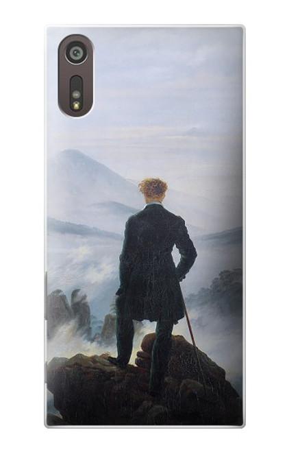 W3789 Wanderer above the Sea of Fog Hülle Schutzhülle Taschen und Leder Flip für Sony Xperia XZ