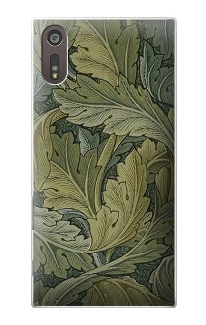 W3790 William Morris Acanthus Leaves Hülle Schutzhülle Taschen und Leder Flip für Sony Xperia XZ