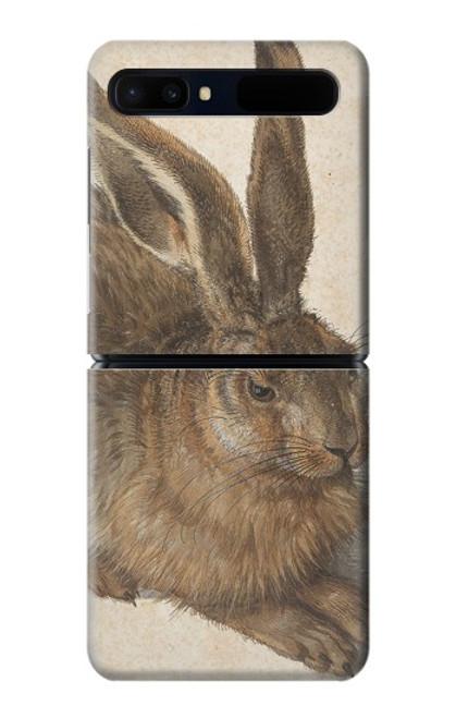 W3781 Albrecht Durer Young Hare Hülle Schutzhülle Taschen und Leder Flip für Samsung Galaxy Z Flip 5G