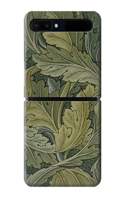 W3790 William Morris Acanthus Leaves Hülle Schutzhülle Taschen und Leder Flip für Samsung Galaxy Z Flip 5G