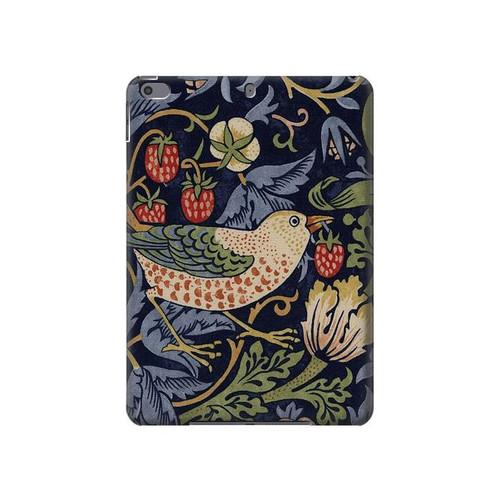 W3791 William Morris Strawberry Thief Fabric Tablet Hülle Schutzhülle Taschen für iPad Air 3, iPad Pro 10.5, iPad 10.2 (2019,2020)