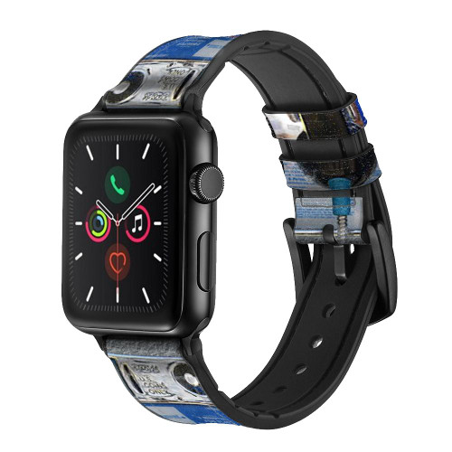 CA0012 Payphone Leather & Silicone Smart Watch Band Strap For Apple Watch iWatch