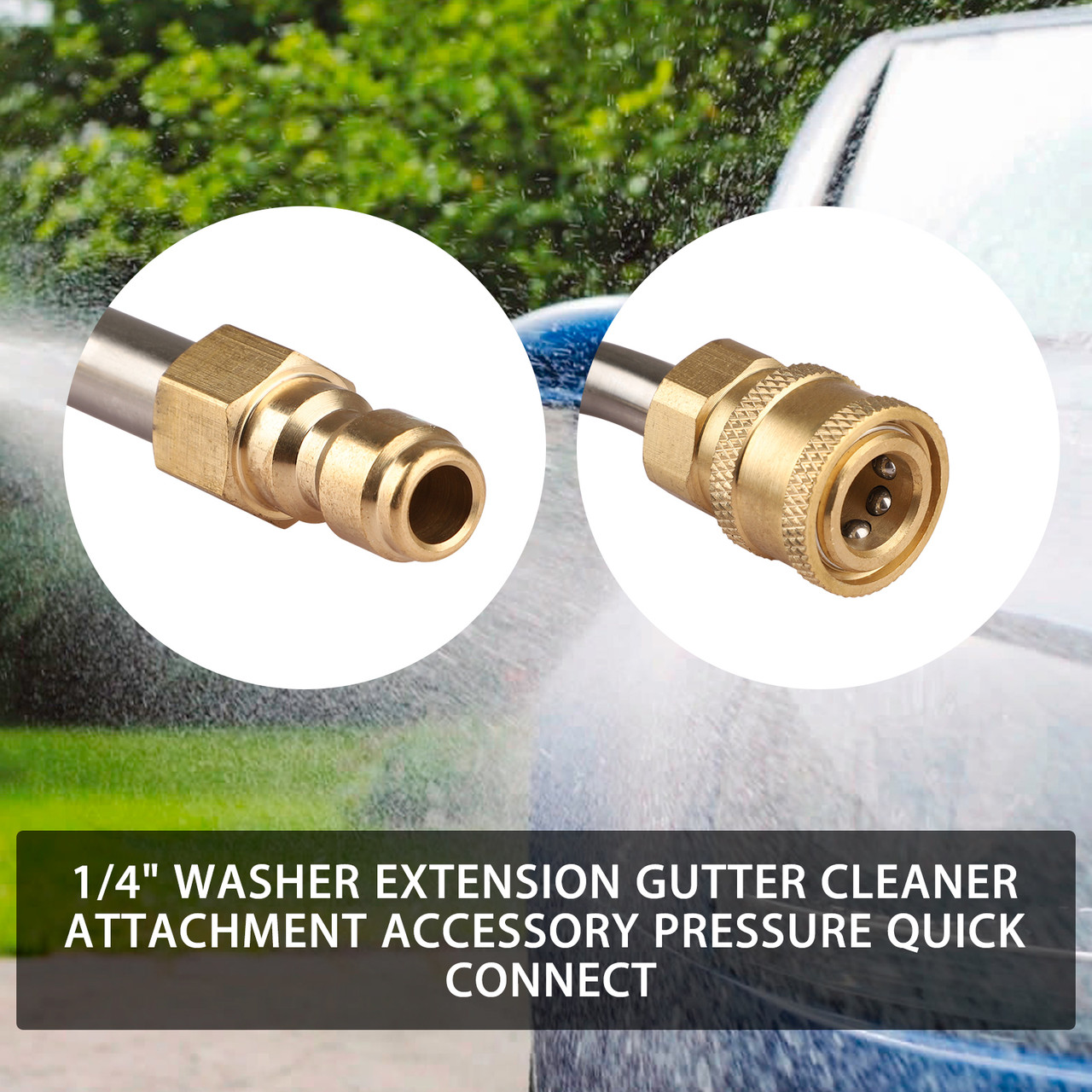 """1xHigh Pressure Elbow Washer Gutter Cleaner Lance//Wand 1//4/"""" Quick Connect Kit"""