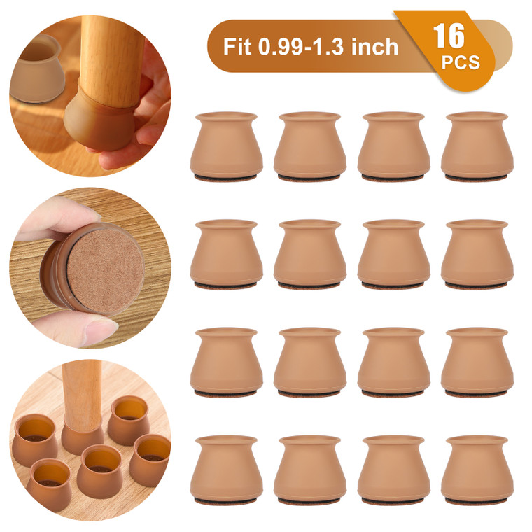 32 PCS Chair Leg Tips Silicone Floor Round Furniture Table Feet Foot Caps Covers