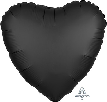 "18""A Heart, Satin Luxe Black(10 count)"