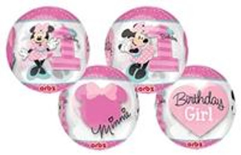 """15""""A Orbz, Minnie Mouse 1st Birthday (1 count)"""
