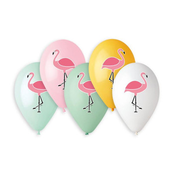 "13""G Colorful Flamingo Assorted Print(50 count)"