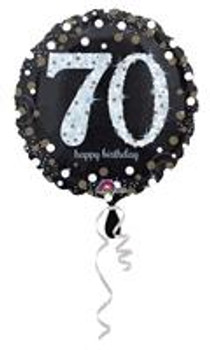 """18""""A Happy Birthday Sparkling , 70th Holographic(10 count)"""
