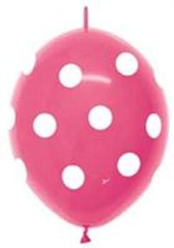 """12""""B Linko loon Dots Big Fuchsia(50 count)"""