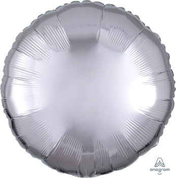 "18""A Circle/ Round, Silver Metallic Mylar(10 count)"