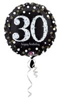 """28""""A Happy Birthday Sparkling, 30th(5 count)"""