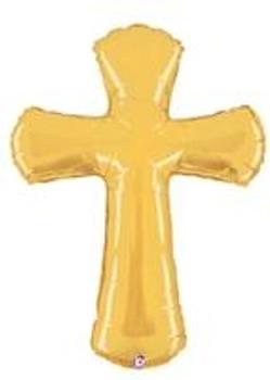 "42""B Cross, Gold(1 count)"
