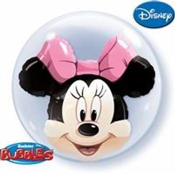 """24""""Q Bubble Double, Minnie Mouse(1 count)"""