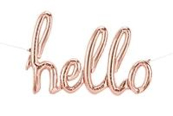 "31""N Script Hello (Rose Gold) (1 count)"