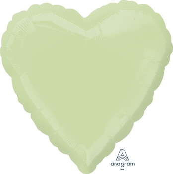 "18""A Heart, Leaf Green(10 count)"