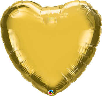 "36""Q Heart Mylar Gold (5 count)"