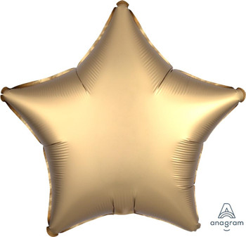 """19""""A Star, Satin Luxe Gold(10 count)"""