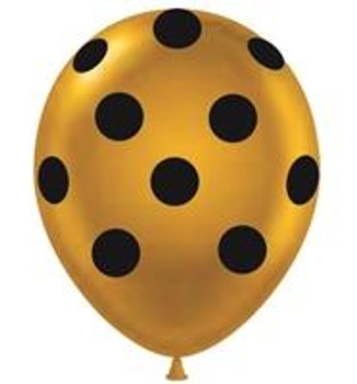 "11""T Dots Gold with Black Print (50 count)"