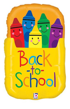 "28""B Crayon, Box Back To School(5 count)"