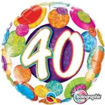 """18""""Q Big Dots & Glitz, #40"""
