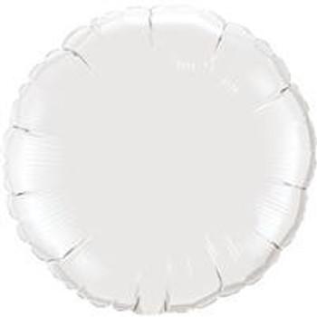 """4""""Q Circle/ Round White (10 count)"""