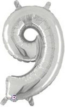 """14""""B Silver 9 (1 count)"""