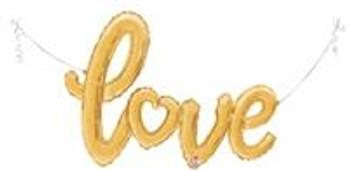 "47""B Script Love Gold (1 count)"
