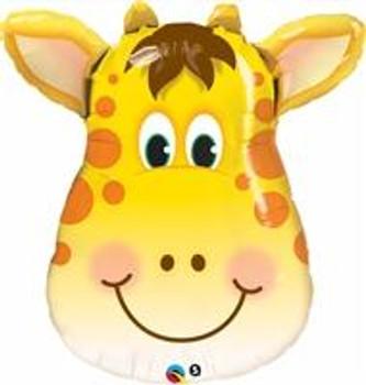 "14""Q Animal Giraffe, Jolly Head(10 count)"