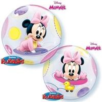 """22""""Q Bubble, Minnie Mouse Baby(1 count)"""