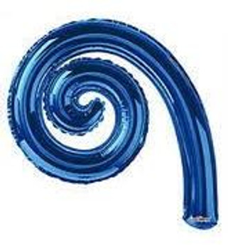 "14""K Kurly, Spiral Royal Blue(10 count)"