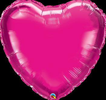 "36""Q Heart Magenta (5 count)"