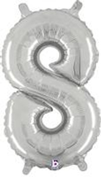 """14""""B Silver 8 (1 count)"""
