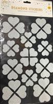 Stickers, Hearts Silver(1 count)