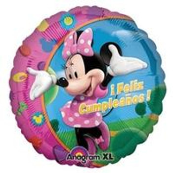 "18""A Minnie Mouse Feliz Cumpleanos(10 count)"