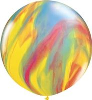 """30""""Q Agate, Traditional Rainbow (2 count)"""
