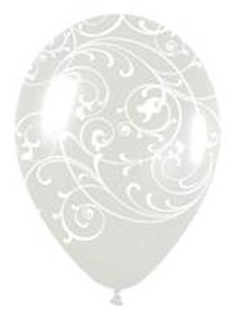 "11""B Filigree, Crystal Clear Print (50 count)"
