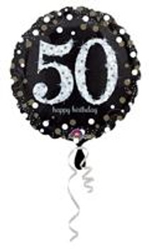 """18""""A Happy Birthday Sparkling , 50th Holographic(10 count)"""